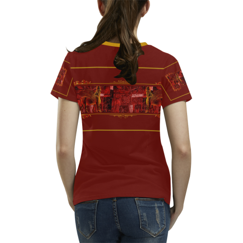 Lamassu Art All Over Print T-shirt for Women/Large Size (USA Size) (Model T40)