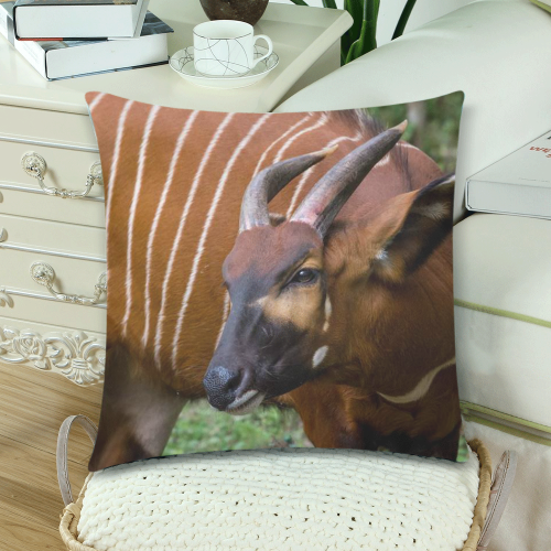 """Delilah Pillow Custom Zippered Pillow Cases 18""""x 18"""" (Twin Sides) (Set of 2)"""
