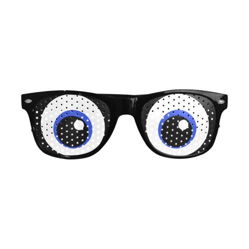 Kawaii-Style Blue Eyes Custom Goggles (Perforated Lenses)