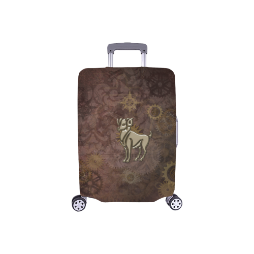 "Steampunk Zodiac Aries Luggage Cover/Small 18""-21"""