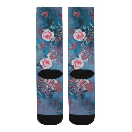 flowers #flowers #pattern Trouser Socks (For Men)
