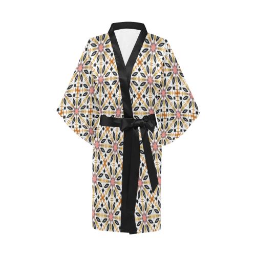 Geometric Quilt Kimono Robe