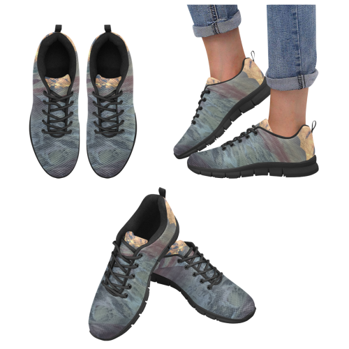 Running Shoes, painted hills design Women's Breathable Running Shoes/Large (Model 055)