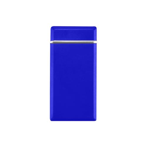 color medium blue Rectangular USB Lighter (Lateral Button)