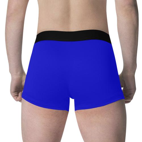 color medium blue Men's All Over Print Boxer Briefs (Model L34)