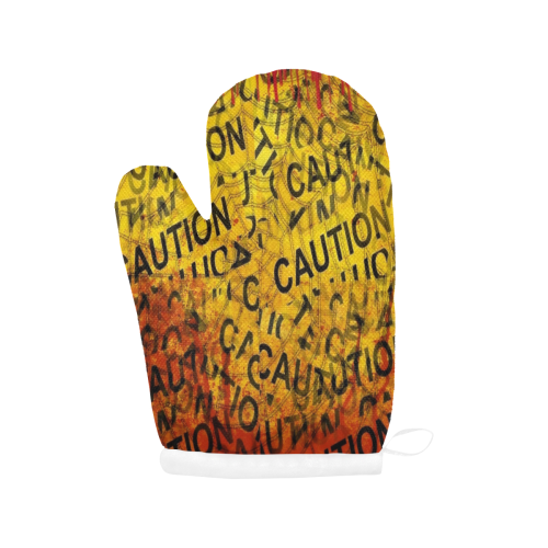 Danger by Nico Bielow Oven Mitt (Two Pieces)
