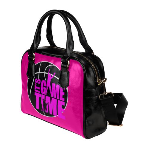 Its Game Time - Pink Shoulder Handbag (Model 1634)