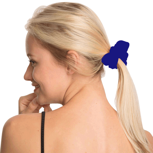 color navy All Over Print Hair Scrunchie