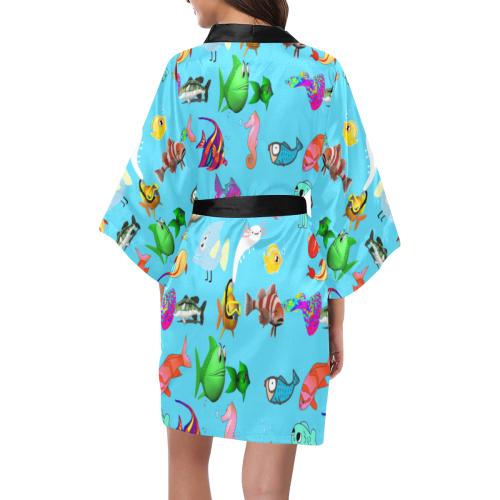 Fishes Kimono Robe