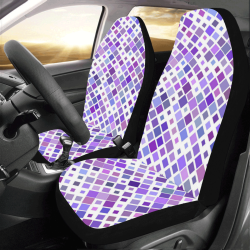 Purple Squared Car Seat Covers (Set of 2)
