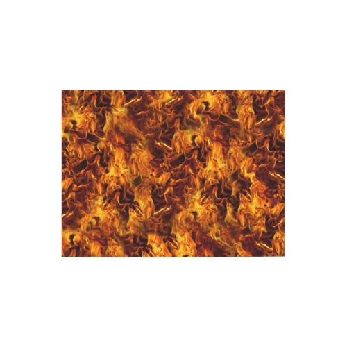 """Flaming Fire Pattern Photo Panel for Tabletop Display 8""""x6"""""""