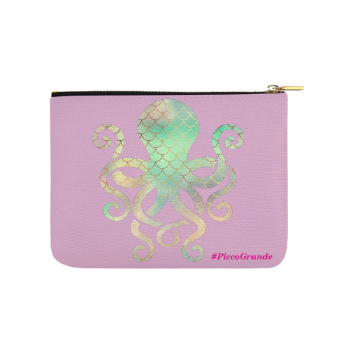 PiccoGrande`s Lavender Rainbow octopus Carry-All Pouch 8''x 6''