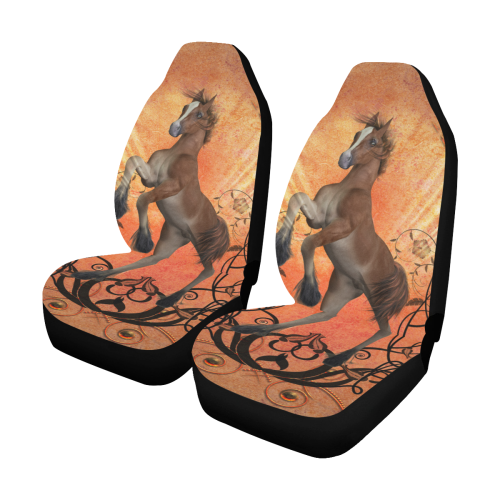 Awesome, cute foal with floral elements Car Seat Covers (Set of 2)