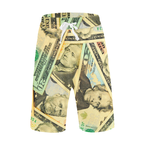 US DOLLARS Men's All Over Print Casual Shorts (Model L23)