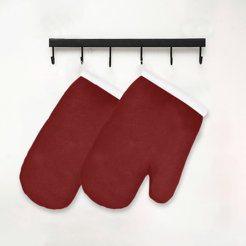 color blood red Oven Mitt (Two Pieces)