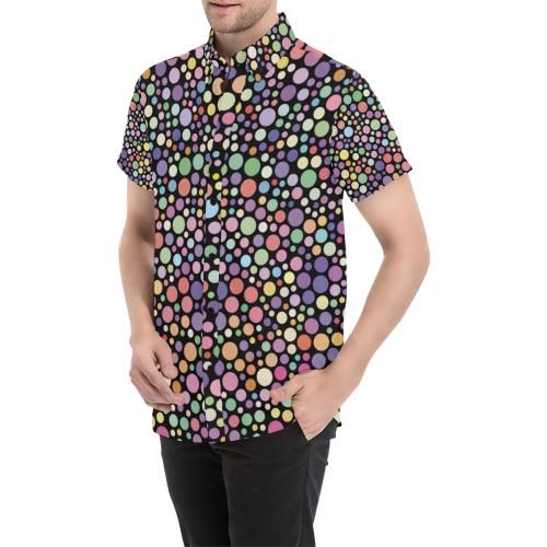 Colorful dot pattern Men's All Over Print Short Sleeve Shirt (Model T53)