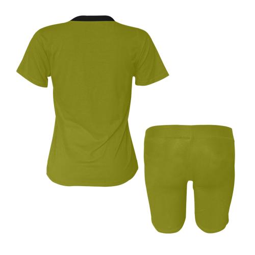 color olive Women's Short Yoga Set (Sets 03)