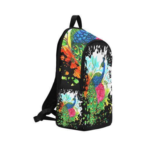 Peacock Fabric Backpack for Adult (Model 1659)