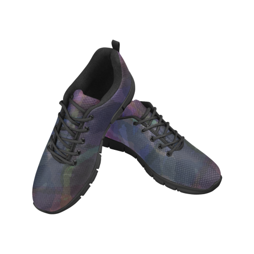 CAMOUFLAGE PURPLE Women's Breathable Running Shoes (Model 055)