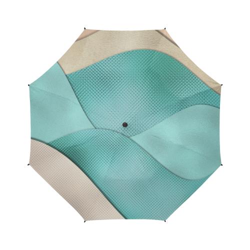 sun space #modern #art Semi-Automatic Foldable Umbrella (Model U05)