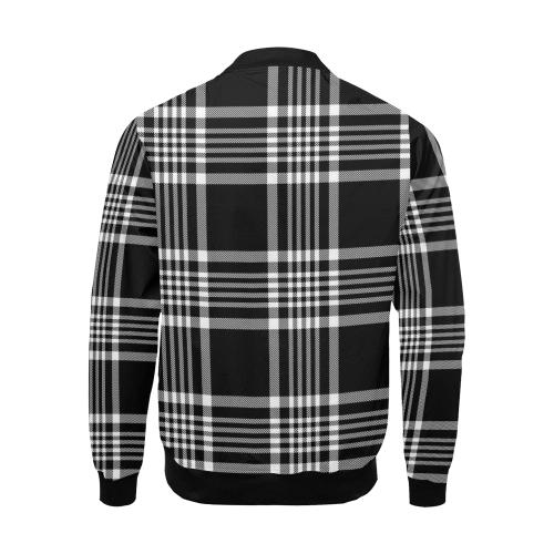 stripe bw All Over Print Bomber Jacket for Men (Model H19)