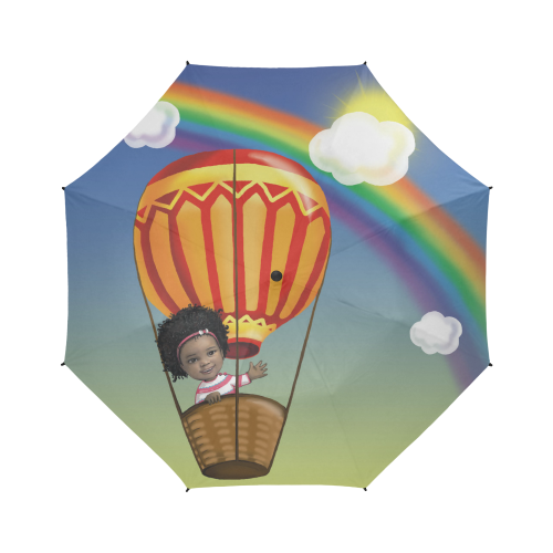 Anaiah's Rainbow Umbrella Semi-Automatic Foldable Umbrella (Model U05)