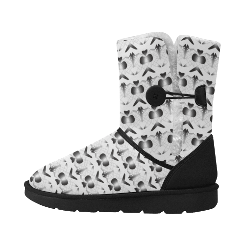 Aced Butterfly Unisex Single Button Snow Boots (Model 051)