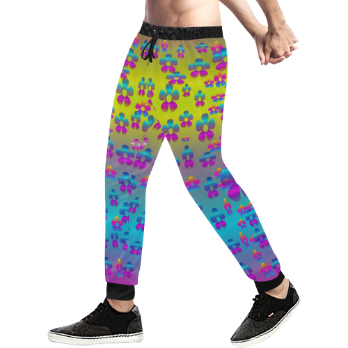 flowers in the most beautiful sunshine Men's All Over Print Sweatpants (Model L11)
