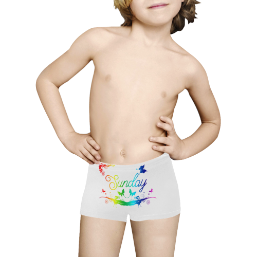 Butterfly Sunday Kids' All Over Print Boxer Briefs (Model L24)