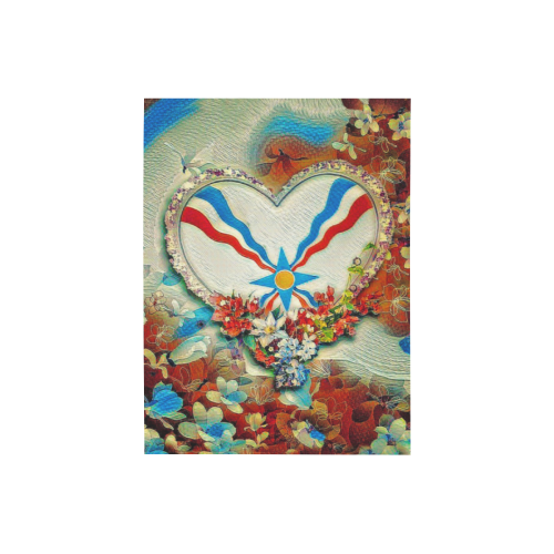 "Assyrian Heart Photo Panel for Tabletop Display 6""x8"""