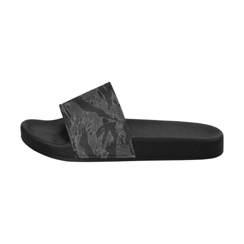 Tiger stripe night Men's Slide Sandals (Model 057)