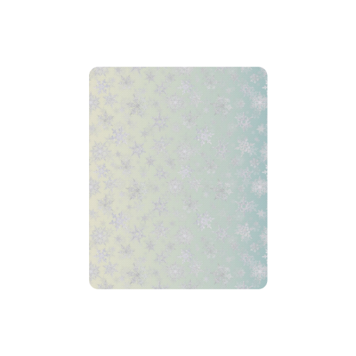 Frosty Day Snowflakes on Misty Sky Rectangle Mousepad