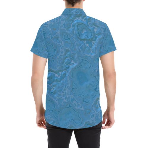 Blue Marble Men's All Over Print Short Sleeve Shirt (Model T53)