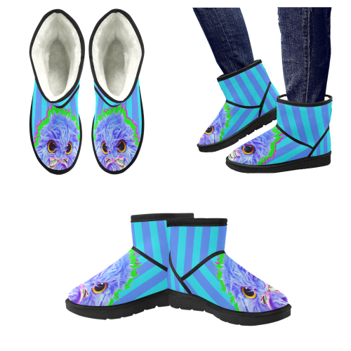 PopArt Twitchy Low Top Unisex Snow Boots (Model 049)