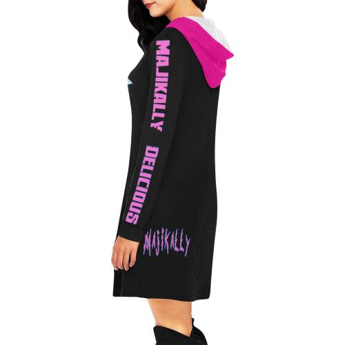 Mini Dress Majikally Delicious All Over Print Hoodie Mini Dress (Model H27)