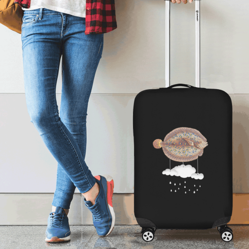 """The Cloud Fish Surreal Luggage Cover/Small 18""""-21"""""""