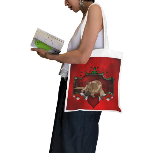 Wonderful german shepherd Canvas Tote Bag/Small (Model 1700)