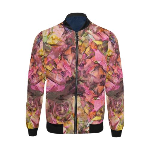 flowers #flowers #pattern All Over Print Bomber Jacket for Men (Model H31)
