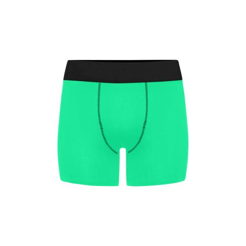 color medium spring green Men's All Over Print Boxer Briefs (Model L34)