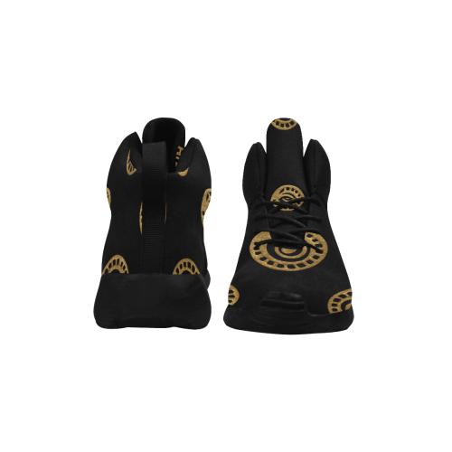 Design shoes : Black, Gold Women's Chukka Training Shoes/Large Size (Model 57502)