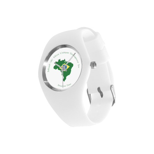 Brazil Flag Outline Simple Style Candy Silicone Watch (Model 315)