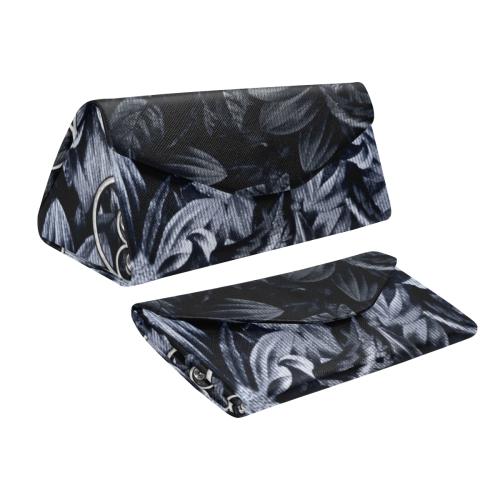 Flower power in blue Custom Foldable Glasses Case