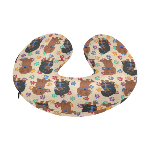a personalized multicolored sample blue name U-Shape Travel Pillow
