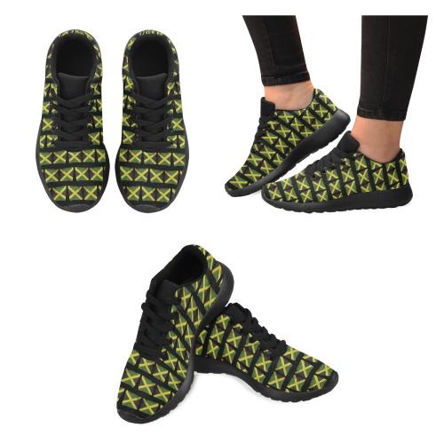 Jamaican Flags Women's Running Shoes (Model 020)