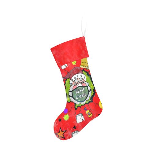 Merry X Mask by Nico Bielow Christmas Stocking