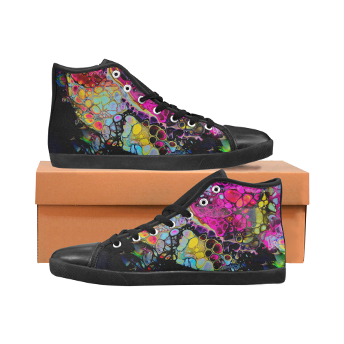 dragon gem high top Women's High Top Canvas Shoes (Model 002)