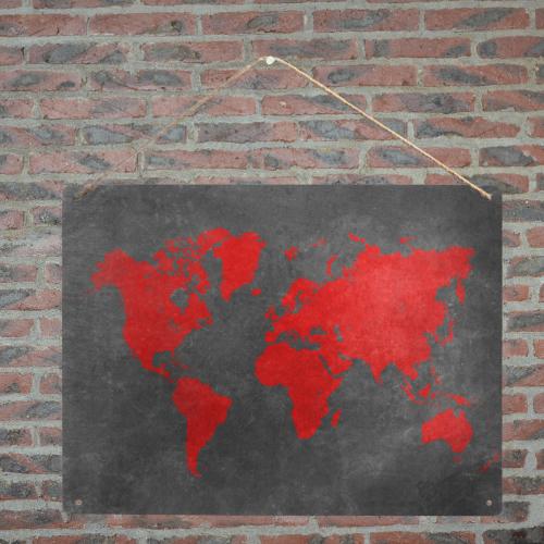 "world map #map #worldmap Metal Tin Sign 16""x12"""