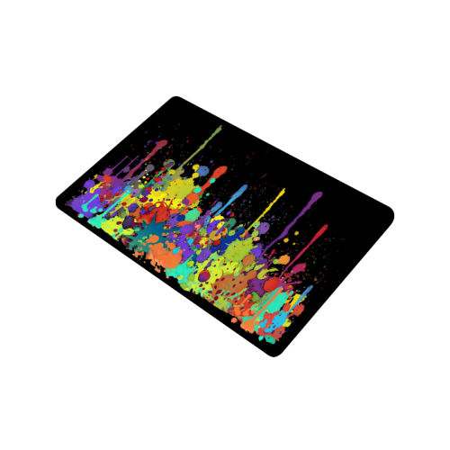 "Crazy Multicolored Running Splashes II Doormat 24""x16"""