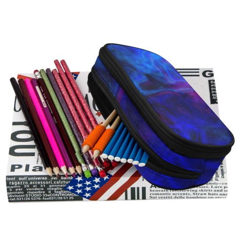smoky 8C by JamColors Pencil Pouch/Large (Model 1680)