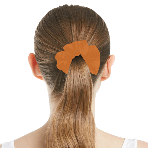 color chocolate All Over Print Hair Scrunchie